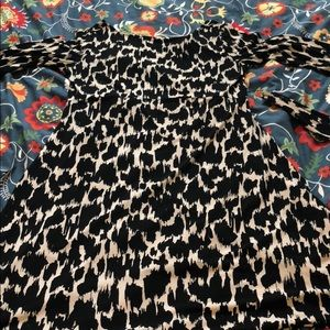Leota Black and White Animal Print Dress Sz M